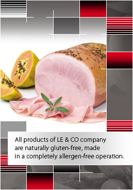All products of LE & CO company are naturally gluten-free, made in a completely allergen-free operation.